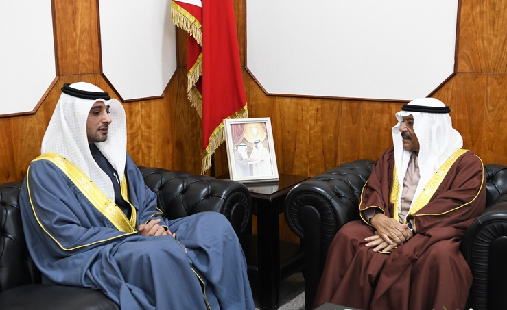 Shura Chairman receives MP Ghazi Al Rahma