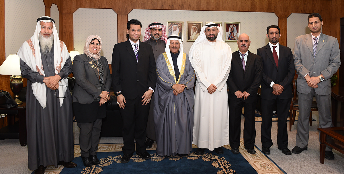 Shura council chairman recieved Bahrain Free Labour Unions Federation Chairman and members