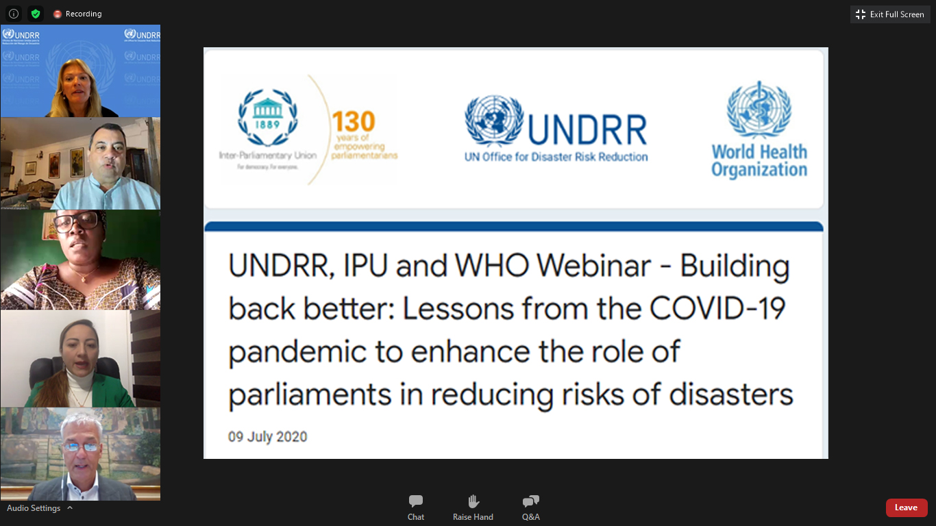 Bahrain's anti-coronavirus experiences highlighted at IPU webinar